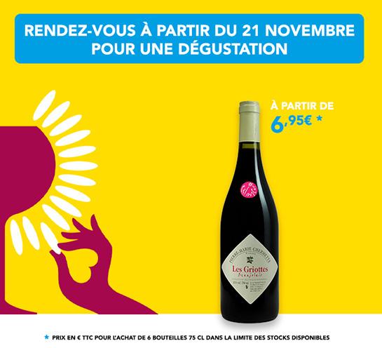 Découvrez notre Beaujolais Nouveau 2019 jeudi 21 novembre !