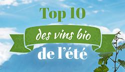 Top10 des vins bio de l'été